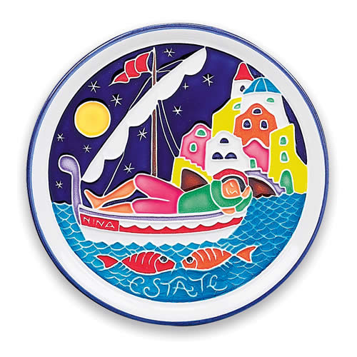 Amalfi Summer Season Plate Arte D Italia Imports Inc