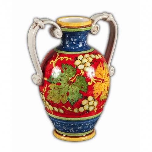 Asti Vase With Handles Arte Ditalia Imports Inc