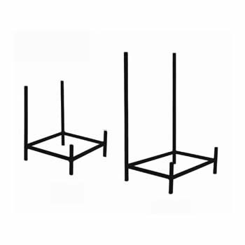 wrought iron bowl or platter stand