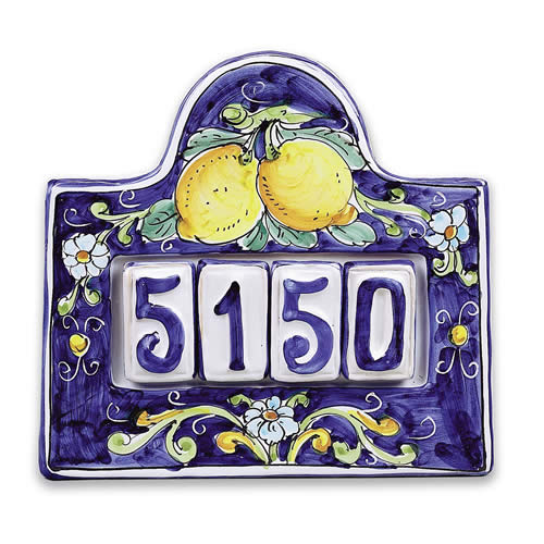 House Number Plaque For Four